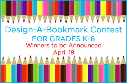 Bookmark Contest deadline March 15. Click for detail