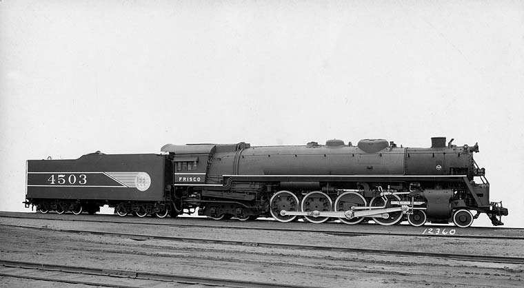 Frisco Lines: Locomotives--Steam, Page 16 Steam Train Side View