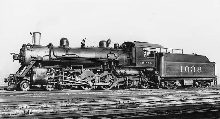 Frisco Lines: Locomotives--Steam, Page 6 Steam Train Side View