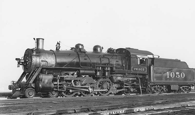 Frisco Lines: Locomotives--Steam, Page 7 Steam Train Side View
