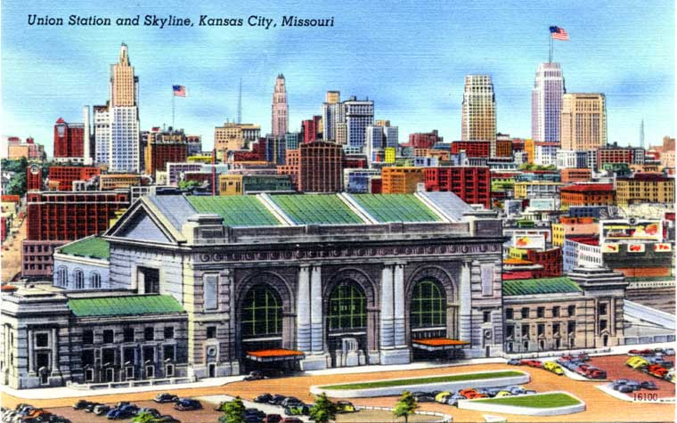 the Kansas City skyline in