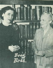 Miss Vivian Maddox (left) and Miss Mildred Wilson. Miss Wilson was acting librarian since the death of Miss Harriet Horine.