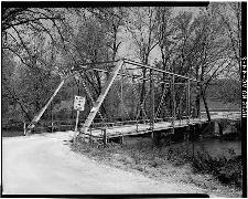 James River Bridge ca 1968, .6 mile North of Greene-Christian County Line, MO.  James River Bridge was the first metal bridge constructed in the county and was associated with the Harrison-Springfield Road.