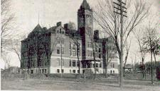 "The ""new"" Central High School, 1894, relocated to Central Street."