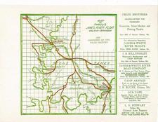 """Map of famous James River Float"" ca. 1925. Located in ""Fishing"" infofile at the Library Center"