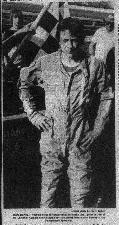 Photograph of Mark Martin that appeared in the newspaper.