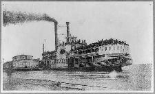Steamboat Sultana at Helena Ark., 1865